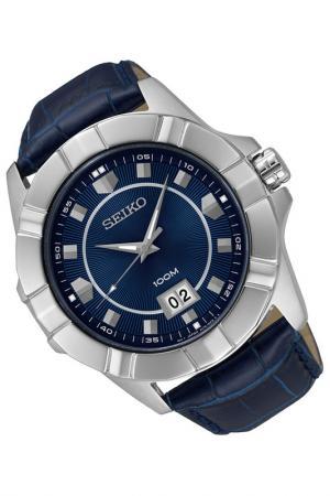 Часы Seiko. Цвет: синий