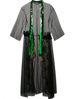 Платье с тюлевым слоем Toga. Цвет: чёрный