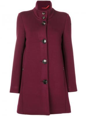 Однобортное пальто Rrd. Цвет: розовый и фиолетовый