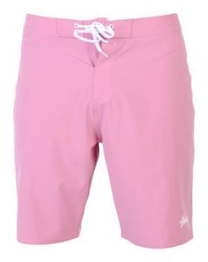 Пляжные брюки и шорты STUSSY. Цвет: розовый