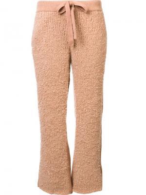 Укороченные брюки Undercover. Цвет: розовый и фиолетовый