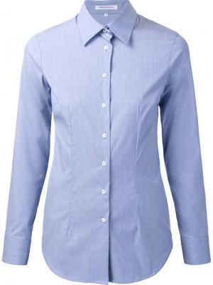Рубашка кроя слим Walter Voulaz. Цвет: синий