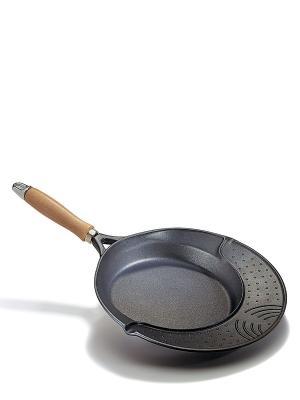 Сковорода-гриль Cosmopan Risoli. Цвет: черный, горчичный