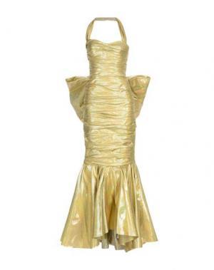 Длинное платье MOSCHINO. Цвет: золотистый