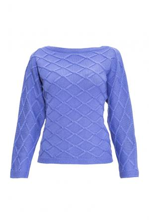 Джемпер из шелка с кашемиром 136703 Sweet Sweaters. Цвет: синий