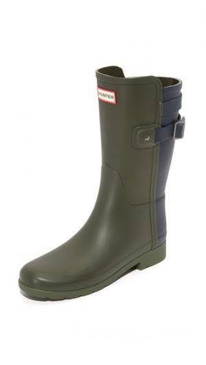 Оригинальные короткие сапоги Refined Hunter Boots. Цвет: темно-оливковый/темно-синий