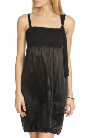 Вечернее платье с орнаментом Galliano. Цвет: черный