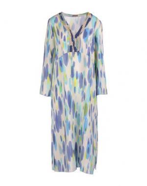Платье до колена MALÌPARMI. Цвет: синий