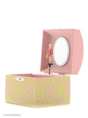 Музыкальная шкатулка с фигуркой в форме купола Jakos. Цвет: желтый, бледно-розовый, розовый