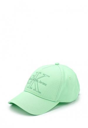Бейсболка Calvin Klein Jeans. Цвет: зеленый