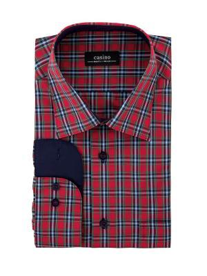 Рубашка CASINO. Цвет: зеленый, красный