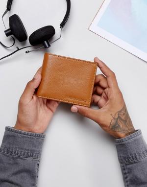 Forbes & Lewis Светло-коричневый кожаный бумажник. Цвет: коричневый
