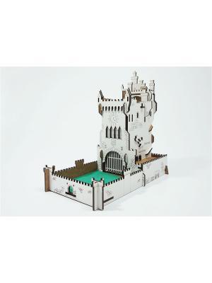 Башн дл бросков кубиков Белый Замок, складна, анимационна, 2 режима Правильные игры. Цвет: белый
