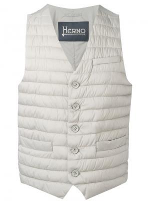 Стеганый жилет Herno. Цвет: телесный