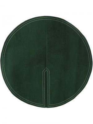 Юбка с круглой аппликацией Jacquemus. Цвет: зелёный