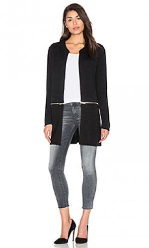 Пальто с круговой молнией IKKS Paris. Цвет: черный