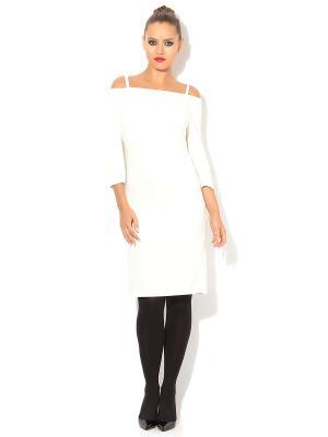 Платье TuttoBene. Цвет: молочный