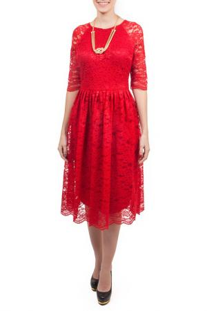 Платье, пояс Piena. Цвет: красный
