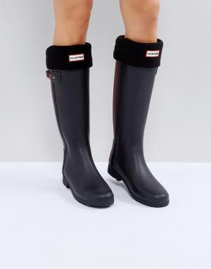 Hunter Черные толстые носки Original. Цвет: черный