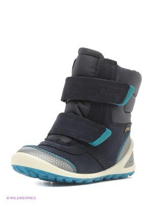 Ботинки ECCO. Цвет: голубой, серебристый, синий