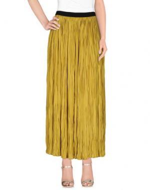 Длинная юбка LIVIANA CONTI. Цвет: охра