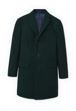 Пальто Mango Man. Цвет: зеленый