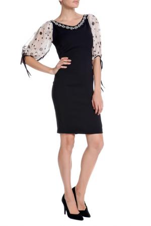 Платье XS MILANO. Цвет: черно-бежевый