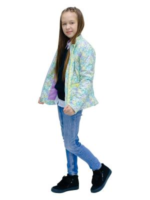 Куртки GROW. Цвет: светло-зеленый, светло-желтый