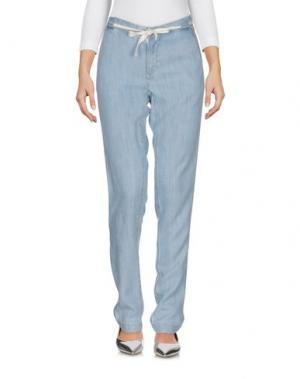Джинсовые брюки SWILDENS. Цвет: синий