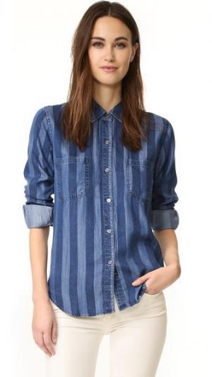 Удовлетворить рубашка на пуговицах RAILS. Цвет: индиго block полоску