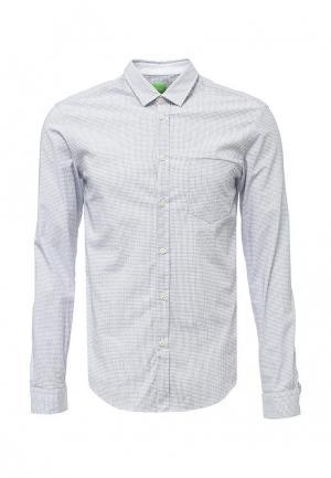 Рубашка Boss Green. Цвет: серый