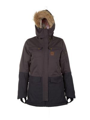 Куртка  AMITY GUM PARKA Rip Curl. Цвет: черный, коричневый