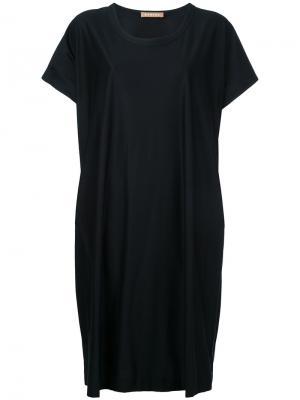 Трикотажное платье-футболка Nehera. Цвет: чёрный