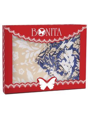 Скатерть BONITA. Цвет: синий, темно-бежевый, молочный