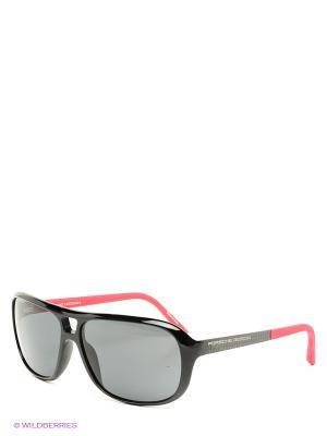 Солнцезащитные очки Porsche Design. Цвет: черный, фуксия