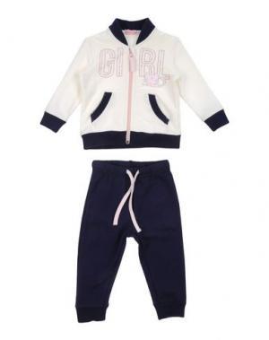 Спортивный костюм MIRTILLO. Цвет: белый