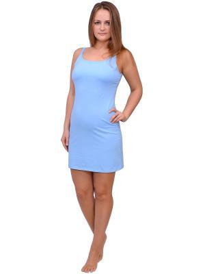 Ночная сорочка Flammber. Цвет: голубой