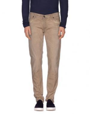 Джинсовые брюки JECKERSON. Цвет: песочный