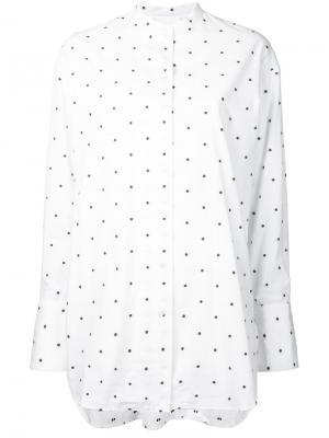 Рубашка с узором в горох Bassike. Цвет: белый