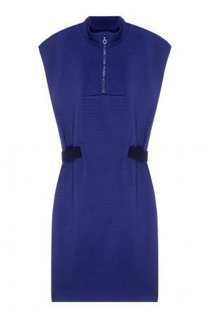 Однотонное платье VIKTORIA IRBAIEVA. Цвет: синий