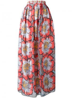 Длинная юбка с цветочным принтом Tsumori Chisato. Цвет: многоцветный