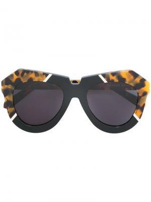 Солнцезащитные очки  с массивной оправой Karen Walker Eyewear. Цвет: чёрный