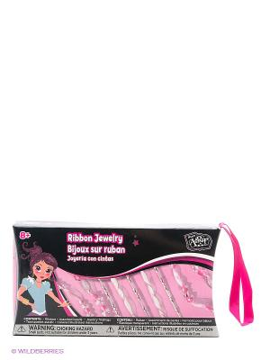 Набор для плетения из ленточек BOJEUX. Цвет: розовый