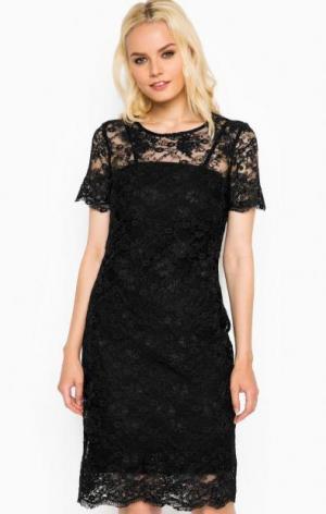 Кружевное платье с подкладкой Liu Jo Jeans. Цвет: черный