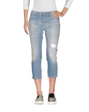 Джинсовые брюки-капри PLEASE. Цвет: синий