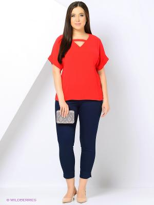 Блузка Love My Body. Цвет: красный