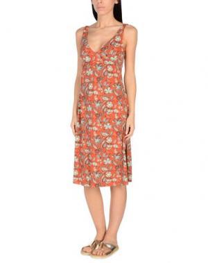 Пляжное платье SIYU. Цвет: ржаво-коричневый