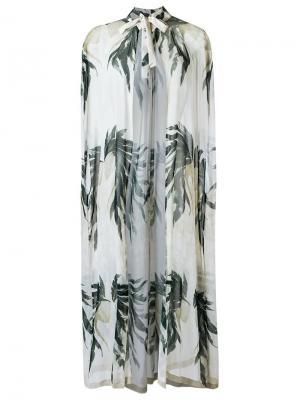 Пляжная накидка Adriana Degreas. Цвет: белый