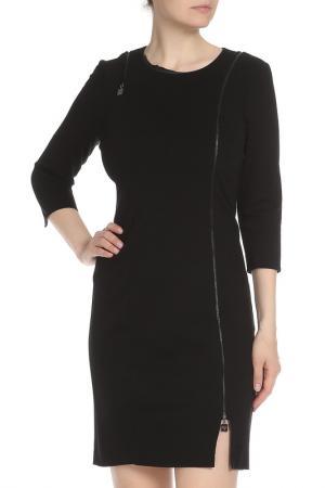 Прилегающее платье на молнии спереди Liu Jo. Цвет: черный