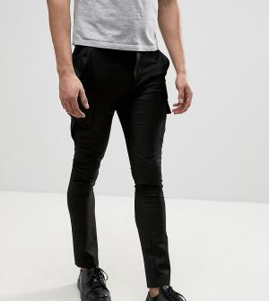 Heart & Dagger Облегающие строгие брюки-карго. Цвет: черный